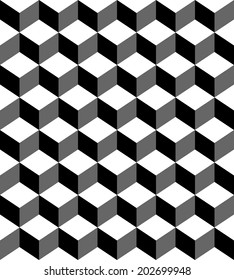Seamless vector geometric ,cube box pattern background