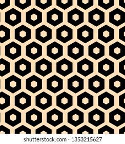 Seamless vector geometric hexagonal grid pattern