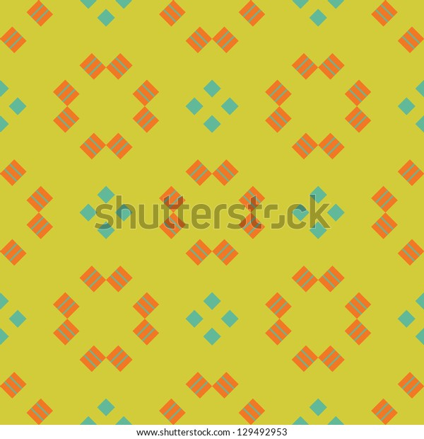 Seamless vector geometric ornament pattern background