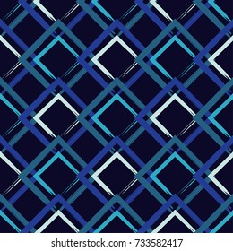 Seamless vector geometric pattern. Brushwork. Textile rapport.