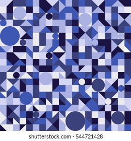 Seamless vector geometric pattern. Colorful abstract mosaic backgrounds.