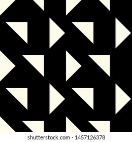 Seamless Vector Geometric Pattern. Editable with easy color change. Traingles