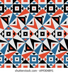 Seamless Vector Geometric Pattern for Textile Design. Stylish Chevron Modern Background. Mix of Triangles and Stripes