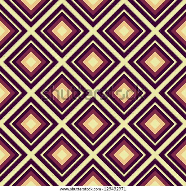 Seamless vector geometric rhombus color pattern