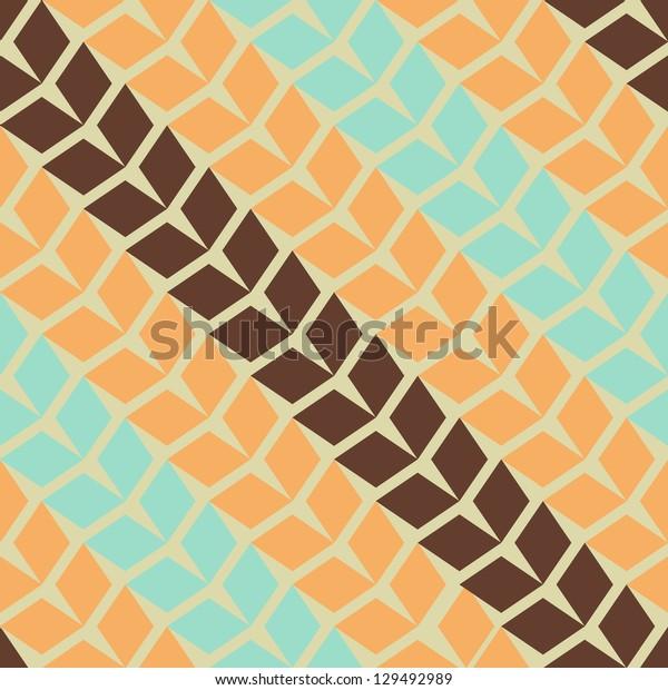 Seamless vector geometric rhombus pattern