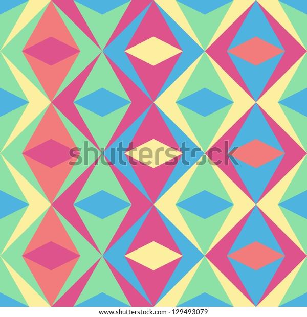 Seamless vector  geometric rhombus pattern background