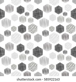 Seamless vector geometrical pattern with rectangles endless background with hand drawn textured geometric figures. Pastel Graphic illustration Template for wrapping, web backgrounds, wallpaper