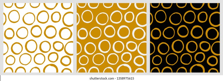 Seamless vector hand draw dotted vector background set