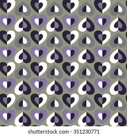 seamless vector heart pattern