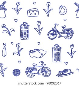 seamless vector Holland pattern