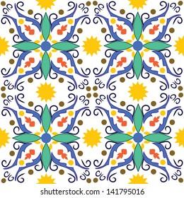 seamless vector illustration of original mediterranean tile