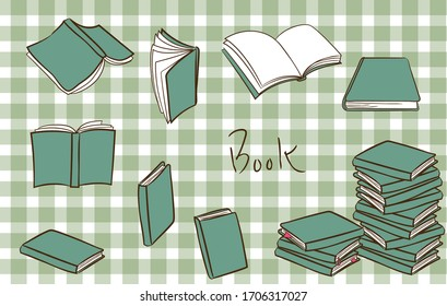 seamless vector image books check pattern