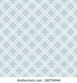 Seamless vector interwoven damask trellis wallpaper pattern