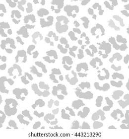 Seamless vector jaguar pattern. Light pale gray illustration.