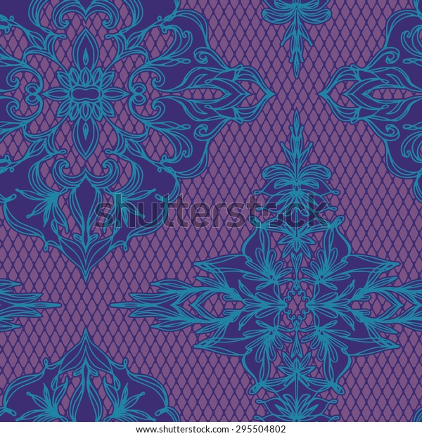 Seamless vector lace decorative pattern with lace effect.