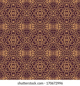 Seamless vector laced pattern in old russian style