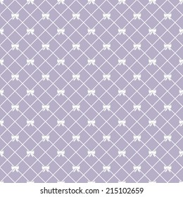 Seamless Vector Lattice and Bows Background Pattern