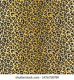Seamless vector leopard fur pattern. Stylish fashionable wild leopard print. Animal print beige gradient 10 eps background for fabric, textile, design, cover, wrapping.