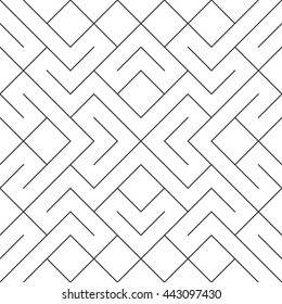 Seamless vector lines mesh pattern. Ethnic vector textured background.