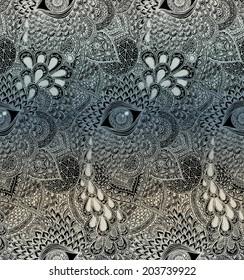 Seamless Vector Mandala Pattern