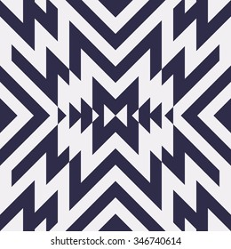 Seamless Vector Maze Pattern for Textile Design. Stylish Black and White Modern Art Background. Psychedelic Stripes Mix