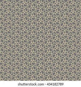 Seamless vector ornament. Modern geometric pattern with repeating elements. Gray and golden pattern