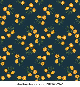 Seamless vector ornamental floral pattern. Background for printing on paper, wallpaper, covers, textiles, fabrics, for decoration, decoupage, scrapbooking and other
