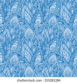 Seamless vector ornate pattern. Floral theme.
