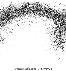Seamless Vector Overlay. Grunge Black-White Abstract Pattern. Chaotic Particles Effect. Monochrome Endless Weathered Background. Aged Brushstroke Sample. Dark Horror Style Halloween Design Element