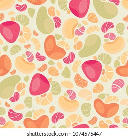 Seamless vector pateern with abstract fruits