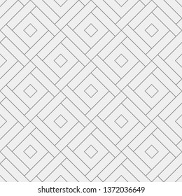 Seamless vector pattern. Abstract geometric background.  Monochrome stylish texture