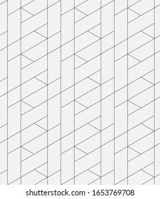 Seamless   vector pattern. Abstract geometric linear background. Monochrome  stylish texture
