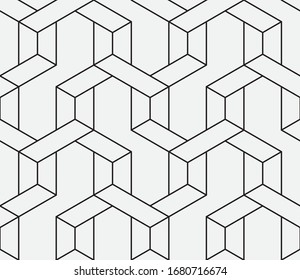 Seamless   vector pattern. Abstract geometric  linear background. Monochrome  stylish texture.