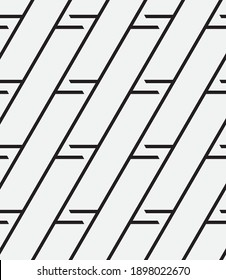 Seamless   vector pattern. Abstract geometric background. Monochrome  stylish texture.