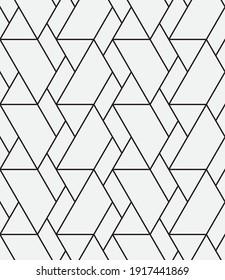 원활한   벡터 패턴 추상 기하학적 망상 배경. 흑백 세련된 텍스처