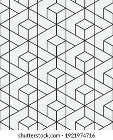 Seamless   vector pattern. Abstract geometric reticulate background. Monochrome  stylish texture.