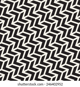 Seamless vector pattern. Abstract geometric background. Rhythmic structure of herringbone. Monochrome stylish texture with chevron