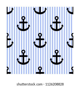 Seamless vector pattern with anchors. vector wallpaper, background textures.