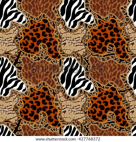 5fc0caaee1 Seamless Vector Pattern Animal Print Spots Stock Vector (Royalty ...