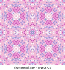 seamless vector pattern background of abstract shapes