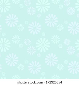 Seamless vector pattern. Blue flowers, light and airy