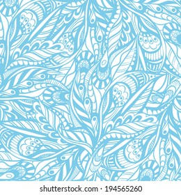 Seamless vector pattern, blue and white