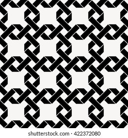 Seamless vector pattern with chained squares, celtic background, vector illustration