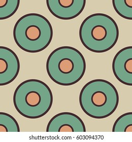 Seamless vector pattern with circles