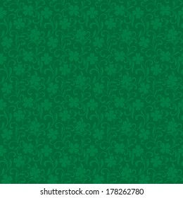 Seamless vector pattern with clover for St.Patrick day