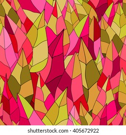 Seamless vector pattern. Colorful leaves.