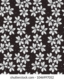 Seamless vector pattern with crocus flowers