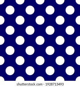 Seamless vector pattern with dots on retro navy blue background