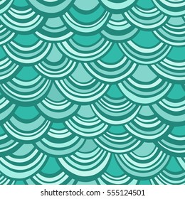 Seamless vector pattern with emerald scales