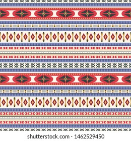 Seamless vector pattern in ethnic style. Traditional geometric ornament. Tribal background for print, textile, paper, covers and other things.
